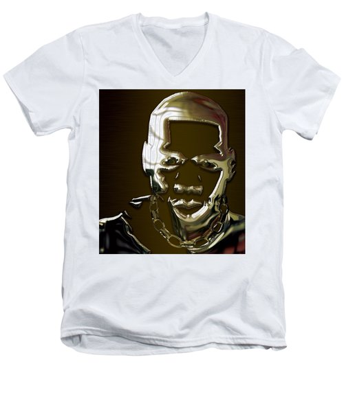Jay Z Collection Men's V-Neck T-Shirt by Marvin Blaine