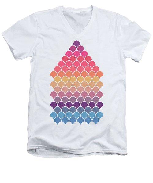 Lovely Pattern Men's V-Neck T-Shirt by Amir Faysal