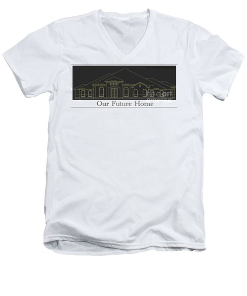 Men's V-Neck T-Shirt featuring the photograph 278fay - No.1654 by Joe Finney