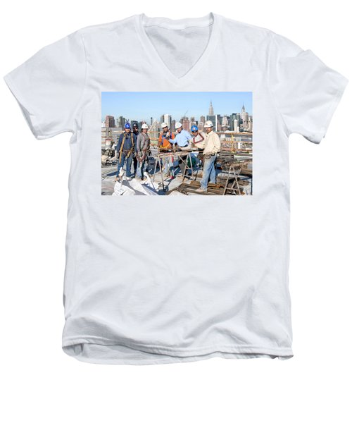 27th Street Lic 4 Men's V-Neck T-Shirt