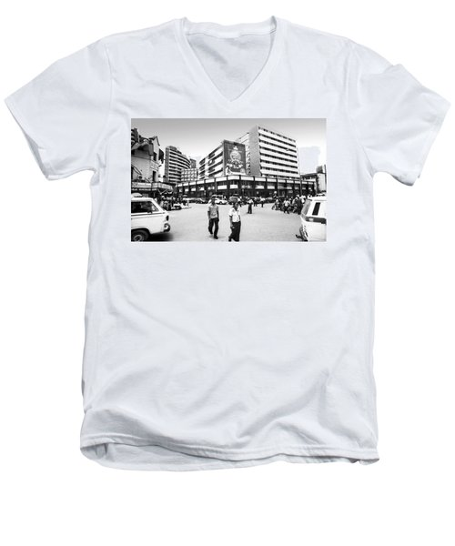 Cms, Odunlami Street Men's V-Neck T-Shirt