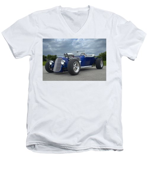 Men's V-Neck T-Shirt featuring the photograph 1923 Ford Bucket T Hot Rod by Tim McCullough