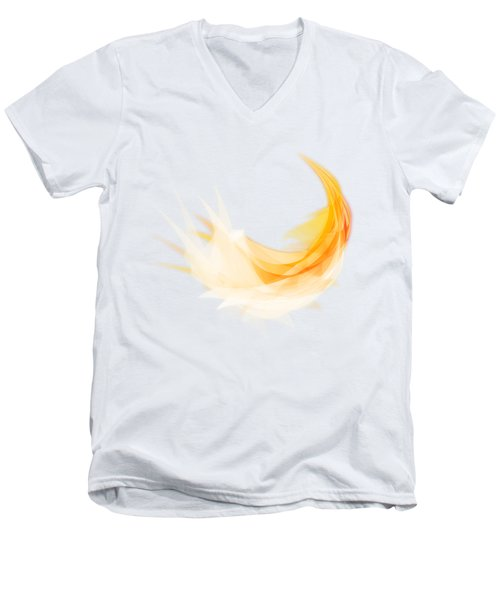 Abstract Feather Men's V-Neck T-Shirt by Setsiri Silapasuwanchai