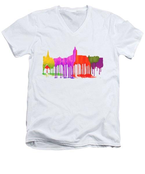 Annapolis Maryland Skyline      Men's V-Neck T-Shirt by Marlene Watson