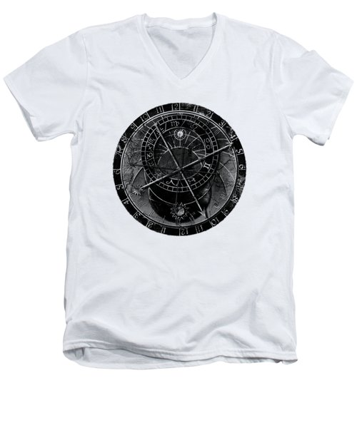Astronomical Clock Men's V-Neck T-Shirt