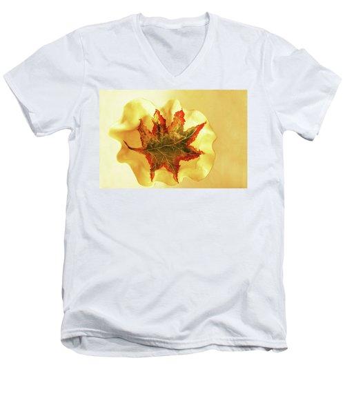 Men's V-Neck T-Shirt featuring the photograph Big Bowel1 by Itzhak Richter
