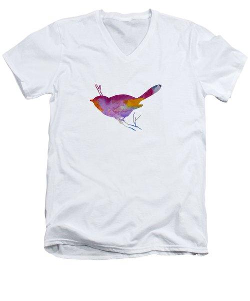Chickadee Men's V-Neck T-Shirt by Mordax Furittus