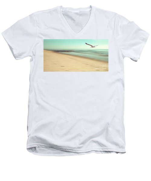 Men's V-Neck T-Shirt featuring the photograph Desire Light Vintage by Hannes Cmarits