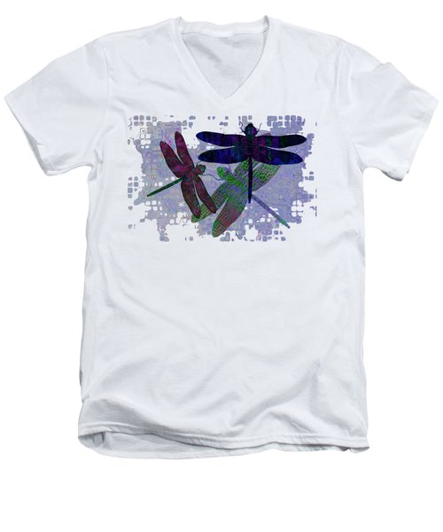 3 Dragonfly Men's V-Neck T-Shirt