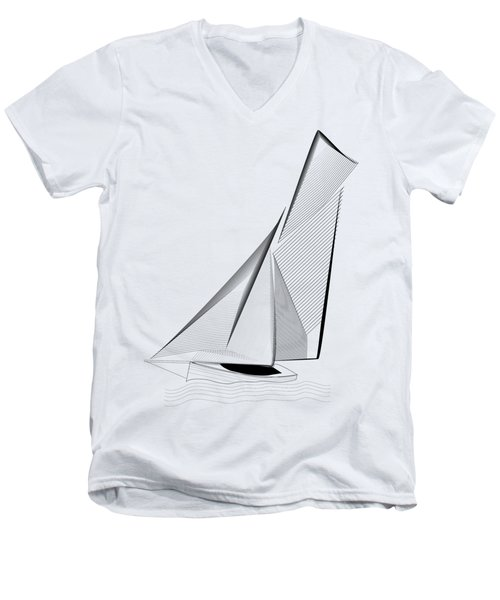 Falmouth Oyster Boat Men's V-Neck T-Shirt