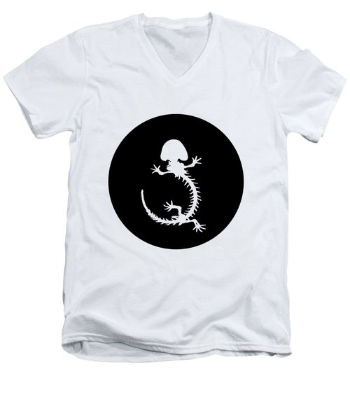 Hellbender Skeleton Men's V-Neck T-Shirt