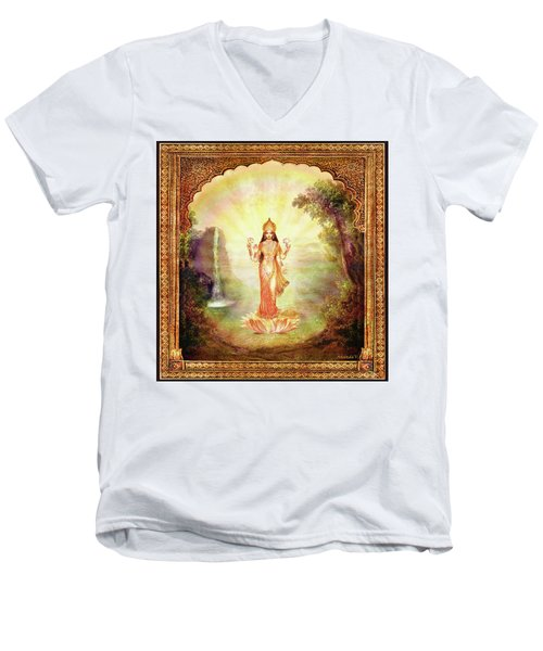 Lakshmi With The Waterfall Men's V-Neck T-Shirt