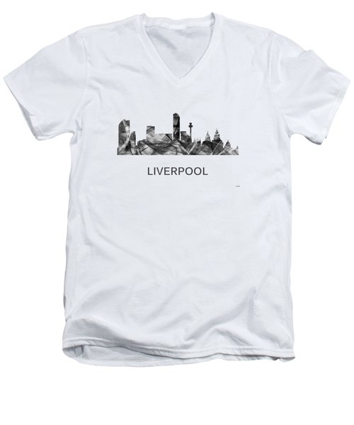 Liverpool England Skyline Men's V-Neck T-Shirt