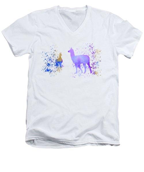 Llamas Men's V-Neck T-Shirt