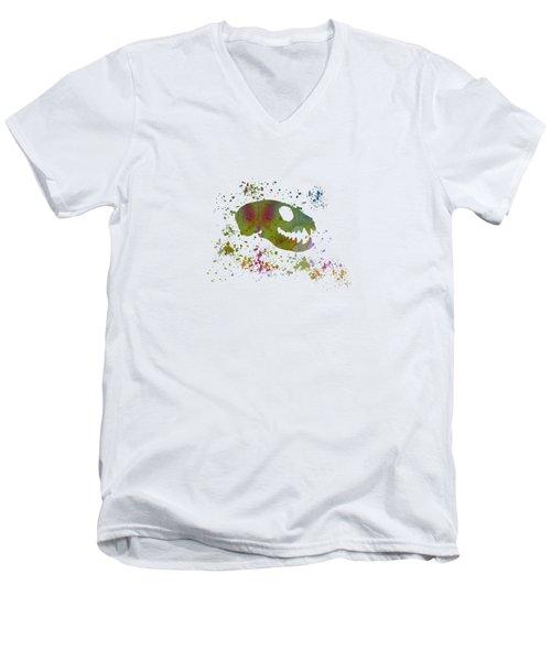 Meerkat Skull Men's V-Neck T-Shirt by Mordax Furittus
