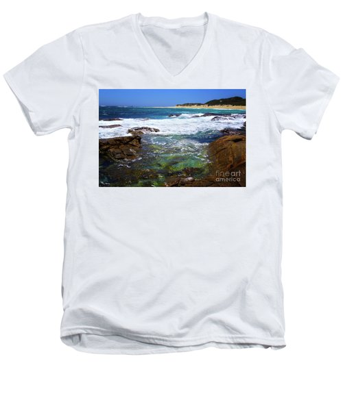 Mouth Of Margaret River Beach II Men's V-Neck T-Shirt