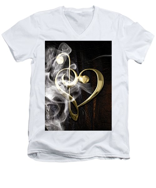 Musical Heart Collection Men's V-Neck T-Shirt