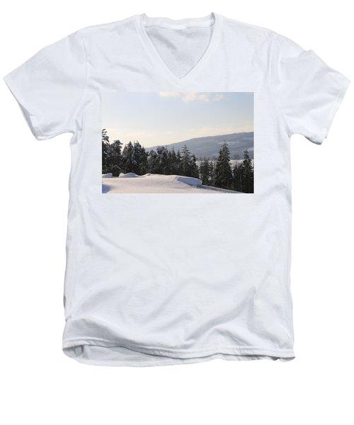 Norwegian Winter Landscape  Men's V-Neck T-Shirt