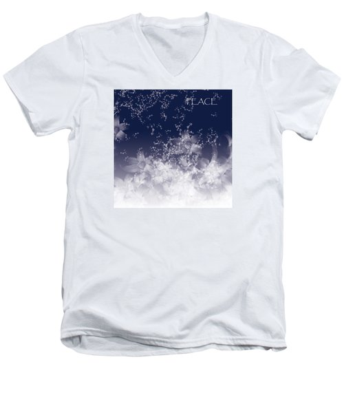 Men's V-Neck T-Shirt featuring the digital art Peace by Trilby Cole