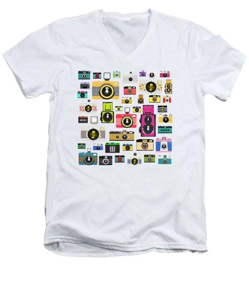 Retro Camera Men's V-Neck T-Shirt