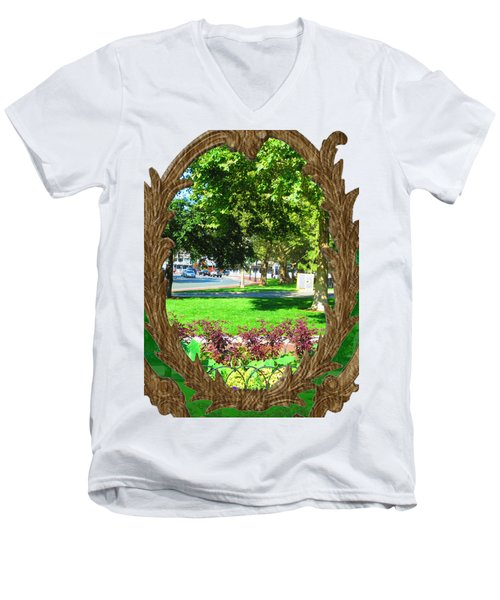 Shirts N Pod Gifts Boston N Surrounding Area Nature Photography By Navinjoshi Fineartamerica Pixles Men's V-Neck T-Shirt by Navin Joshi