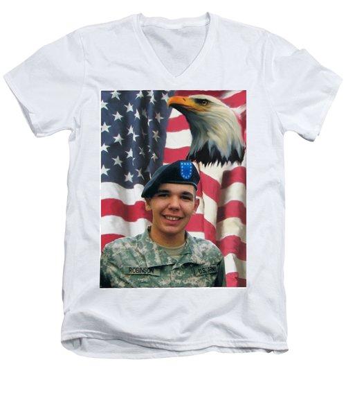 Texas Hero Men's V-Neck T-Shirt by Ken Pridgeon