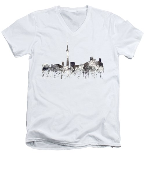 Toronto Ont.skyline Men's V-Neck T-Shirt by Marlene Watson