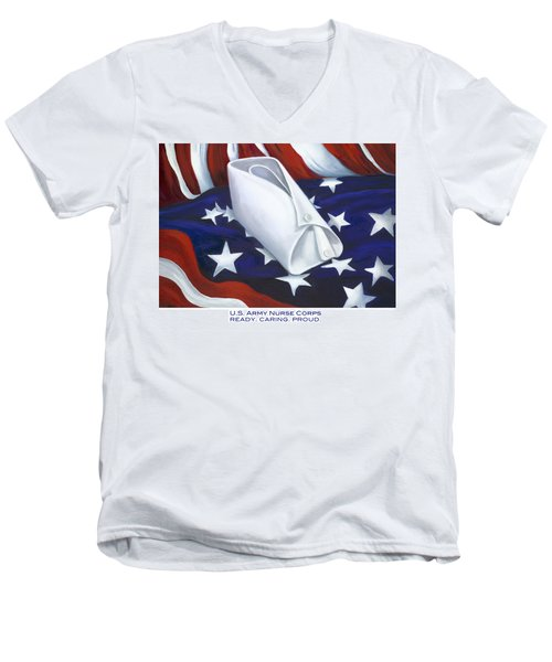 U.s. Army Nurse Corps Men's V-Neck T-Shirt