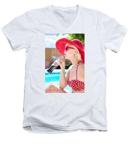 Vintage Val Poolside Men's V-Neck T-Shirt