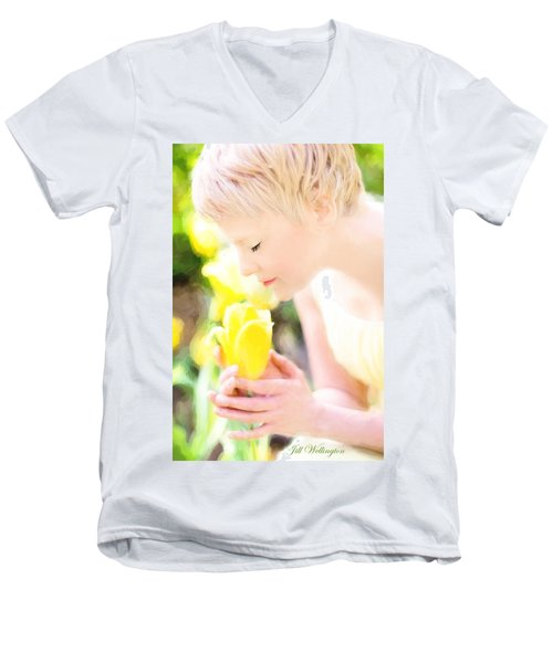 Vintage Val Spring Tulips Men's V-Neck T-Shirt