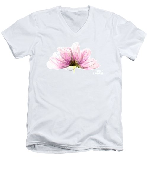 X-ray Of Peony Flower Men's V-Neck T-Shirt