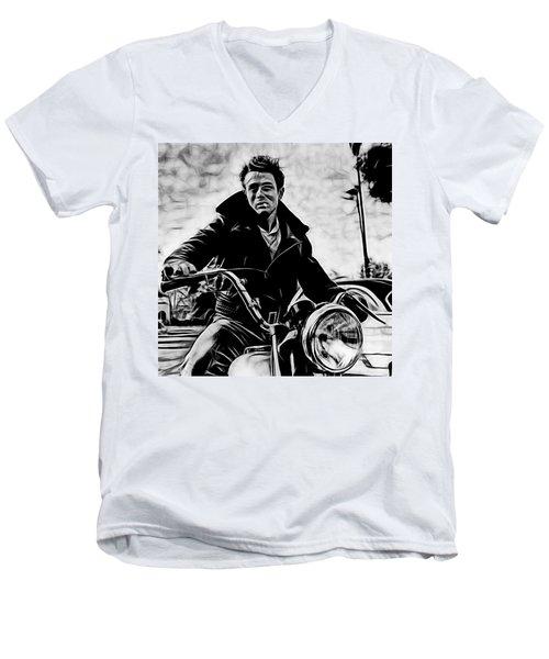 James Dean Collection Men's V-Neck T-Shirt by Marvin Blaine