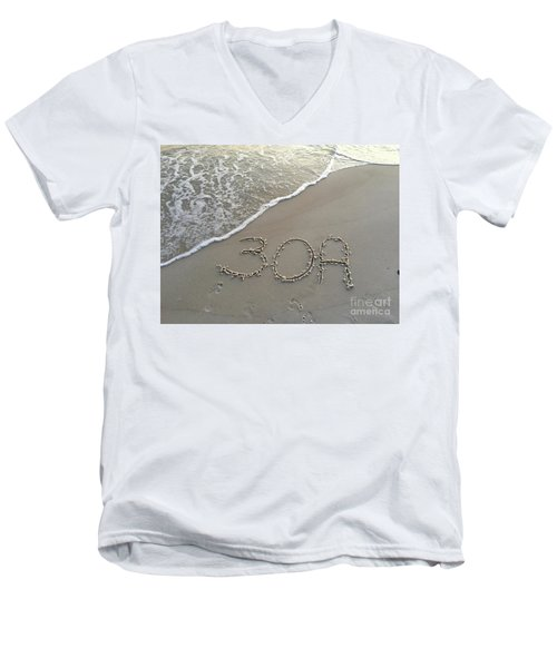 30a Beach Men's V-Neck T-Shirt by Megan Cohen