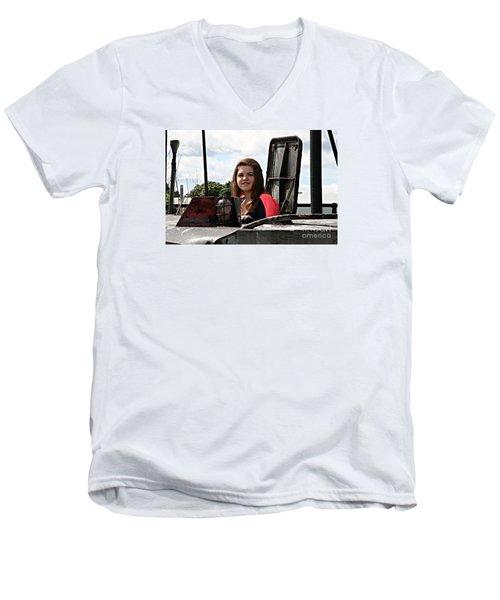 3597 Men's V-Neck T-Shirt by Mark J Seefeldt