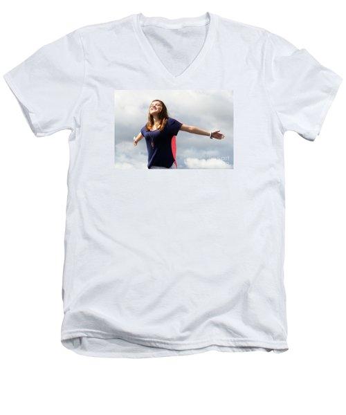 3605 Men's V-Neck T-Shirt by Mark J Seefeldt