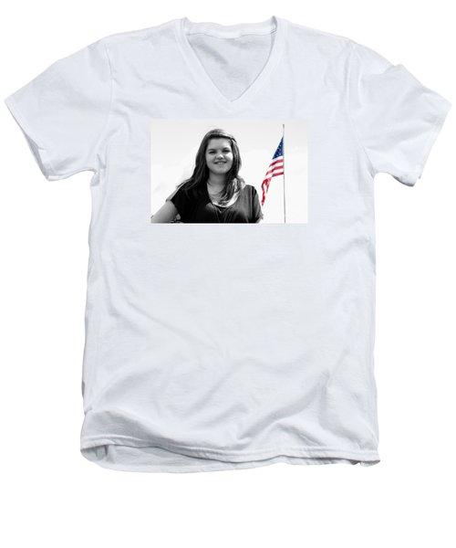 3631bw Men's V-Neck T-Shirt by Mark J Seefeldt