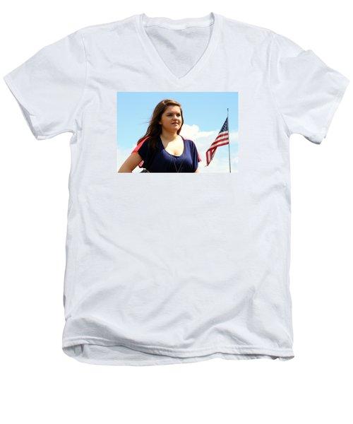 3634 Men's V-Neck T-Shirt by Mark J Seefeldt