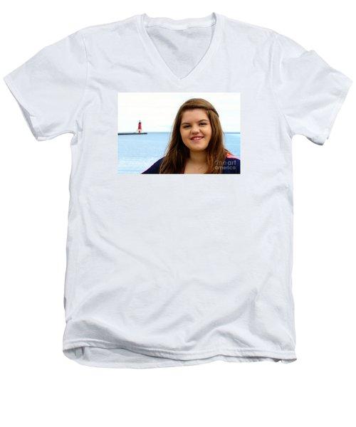 3703 Men's V-Neck T-Shirt by Mark J Seefeldt
