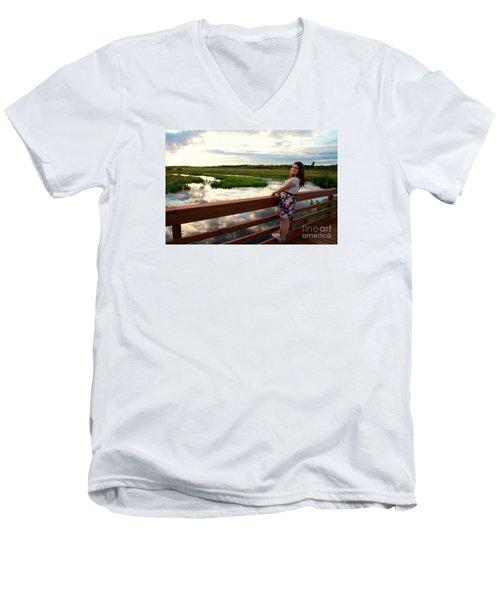 3740 Men's V-Neck T-Shirt by Mark J Seefeldt