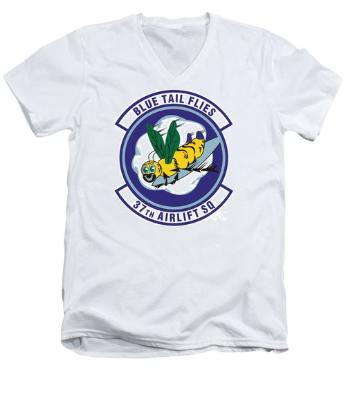 37th Tactical Airlift Squadron Men's V-Neck T-Shirt by David Bearden