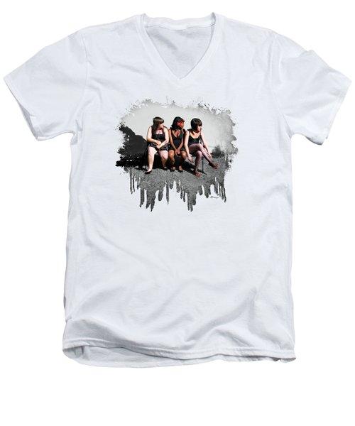 3's  Company Men's V-Neck T-Shirt