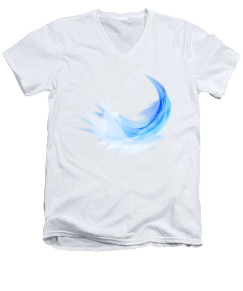 Men's V-Neck T-Shirt featuring the painting Abstract Feather by Setsiri Silapasuwanchai