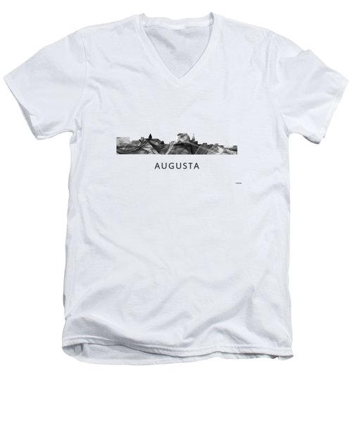 Augusta Maine Skyline Men's V-Neck T-Shirt