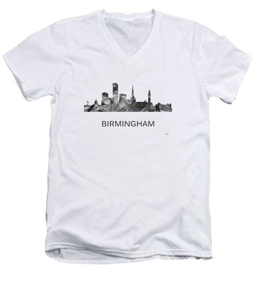 Birmingham England Skyline Men's V-Neck T-Shirt