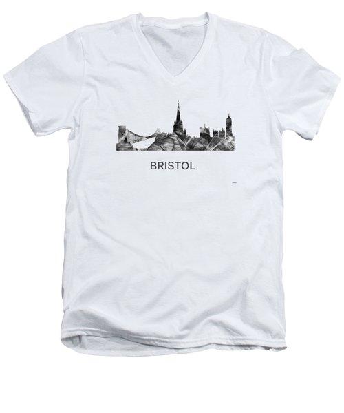 Bristol England Skyline Men's V-Neck T-Shirt