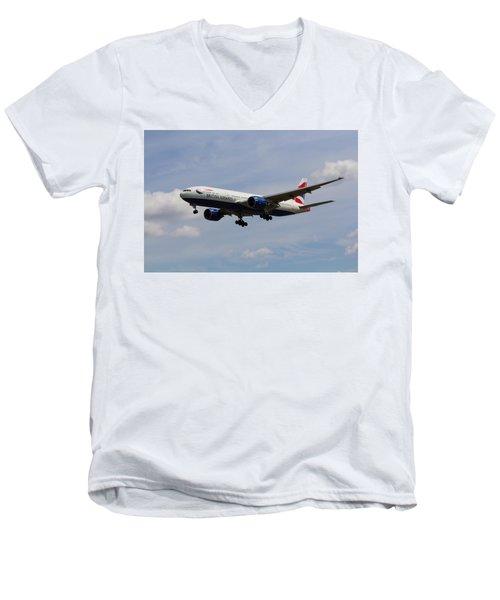 British Airways Boeing 777 Men's V-Neck T-Shirt