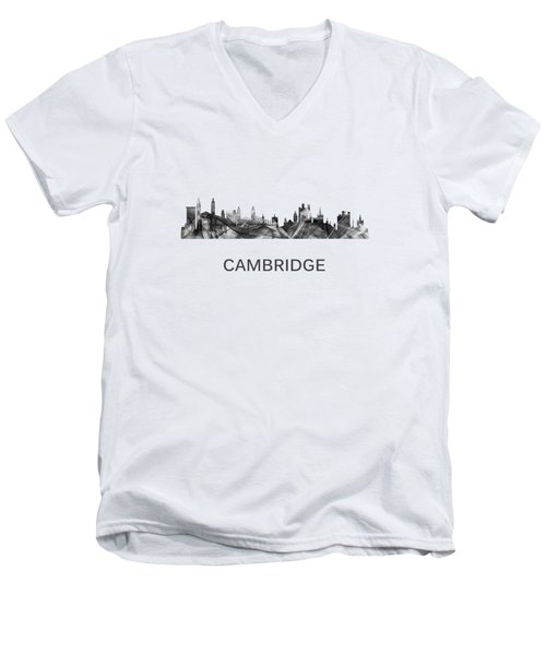 Cambridge England Skyline Men's V-Neck T-Shirt