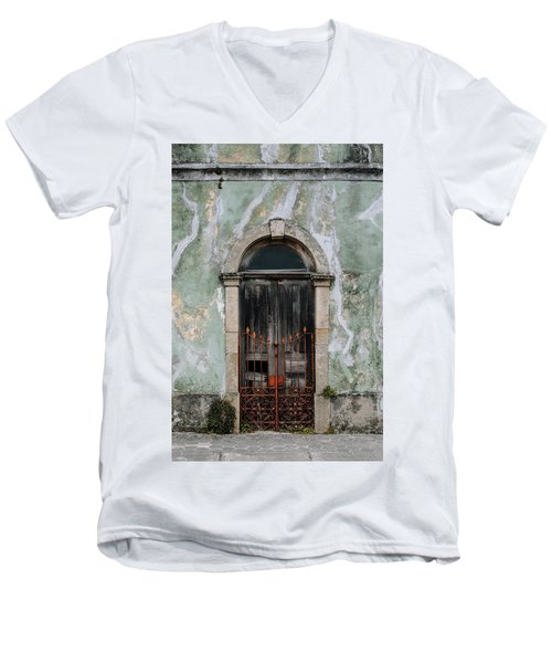 Men's V-Neck T-Shirt featuring the photograph Door With No Number by Marco Oliveira
