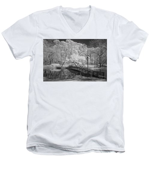 Bridge Over Water Men's V-Neck T-Shirt