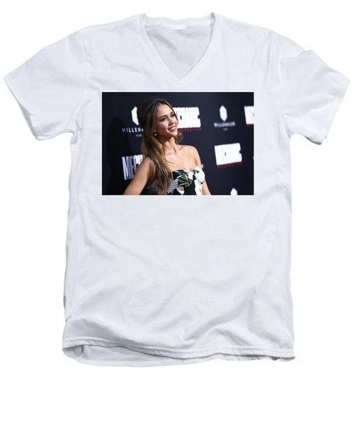 Jessica Alba Men's V-Neck T-Shirt